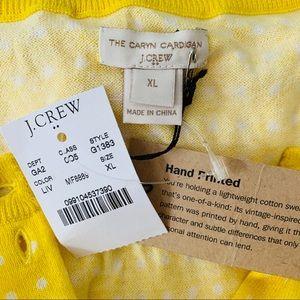 J. Crew Sweaters - J CREW Polka Dot Cardigan NWT Size XL